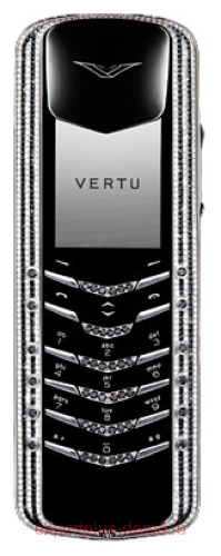 Vertu Signature Black and White Diamonds